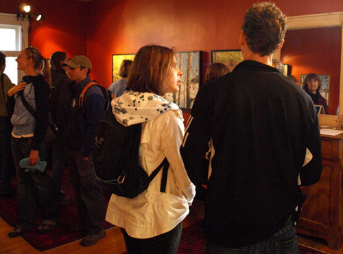 The house was full of art and tour goers throughout the weekend.