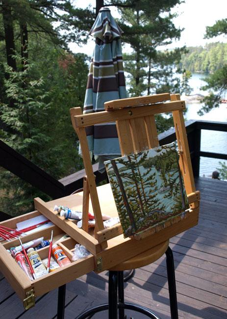 Painting 'en plein air' by Jamie Kapitain