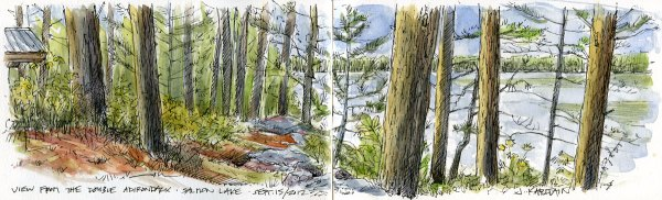 'Salmon Lake From the Double Adirondack' by Jamie Kapitain.
