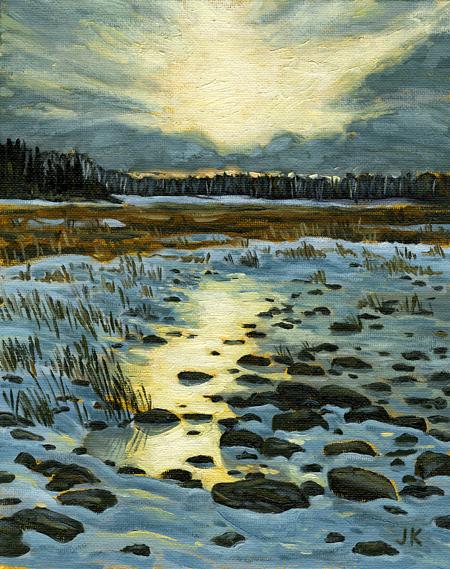 'MacGregor Point, Lake Huron – Study' (2013) by Jamie Kapitain