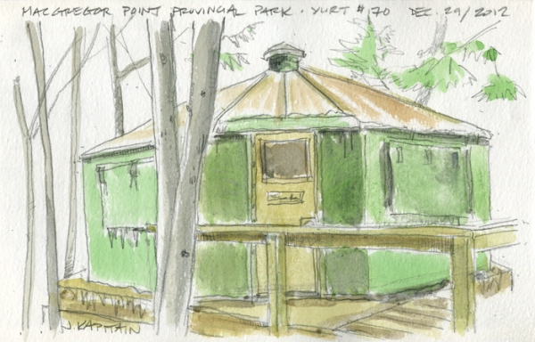 'MacGregor Point Yurt' (2012) by Jamie Kapitain