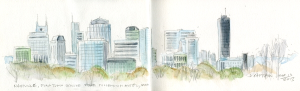 'Nashville, Downtown Skyline' by Jamie Kapitain.