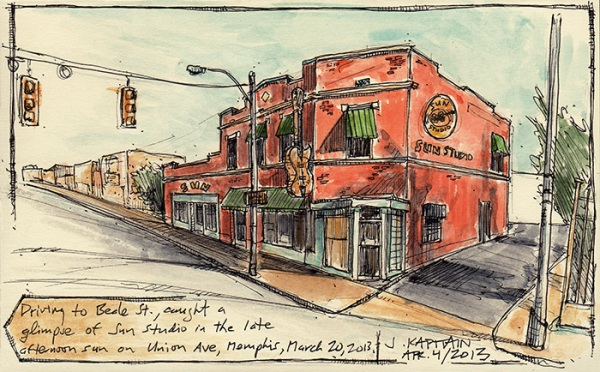 'SunStudio, Memphis' sketch by Jamie Kapitain