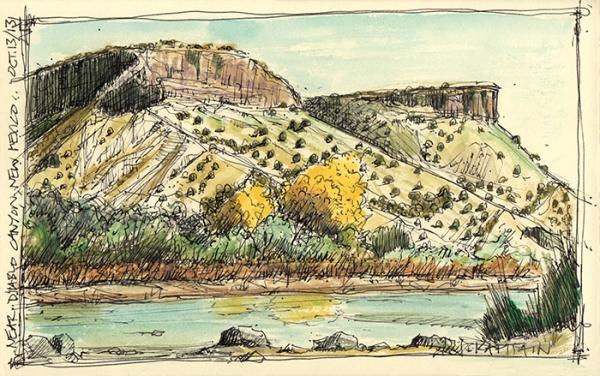 'Near Diablo Canyon, New Mexico' (2013) by Jamie Kapitain.