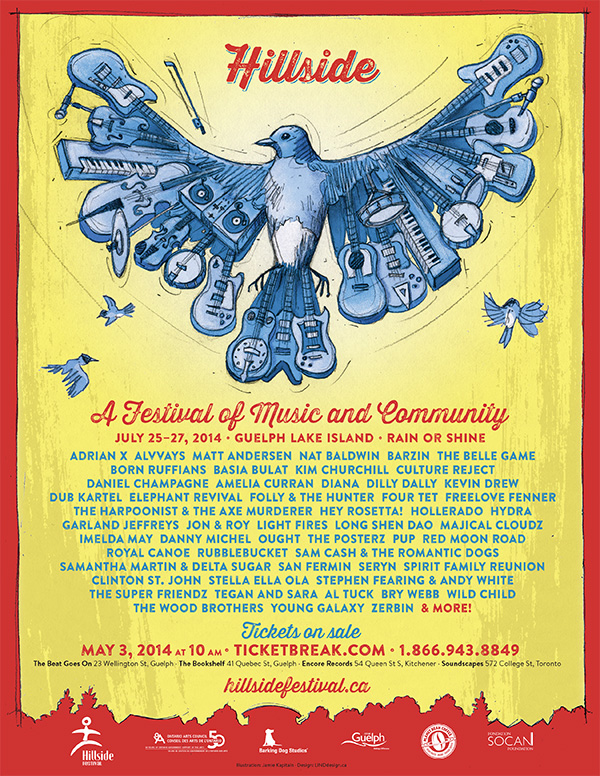 Hillside 2014 poster by Jamie Kapitain