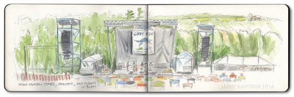 'Grey Fox High Meadow Stage' (2014) by Jamie Kapitain.