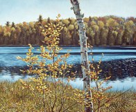 'Autumn Near Salerno Lake' (2011) by Jamie Kapitain