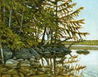 'Morning Shore, Salmon Lake - Study' (2012) by Jamie Kapitain